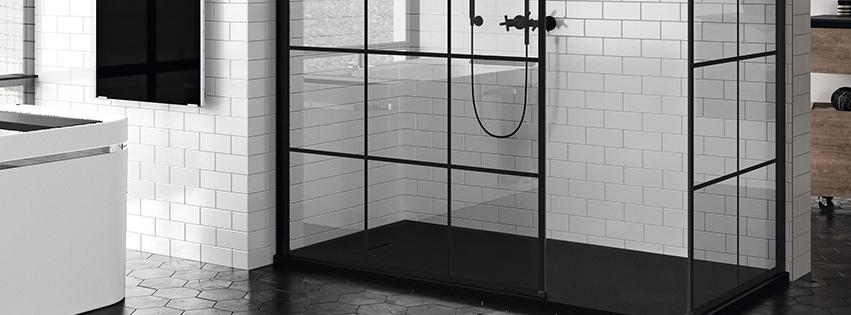 Las mamparas Black Collection aportan el auténtico estilo industrial en tu baño