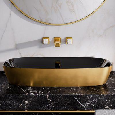 Lavabo Gold:Negro